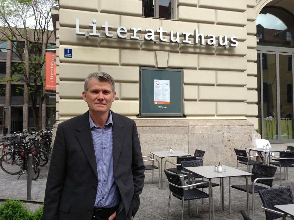 Liquid State CEO infront of Literatur Haus in Munich to discuss Germany publishing