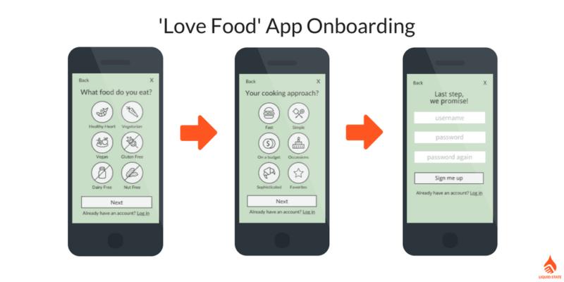 Love Food App Onboarding